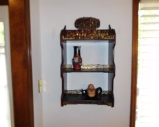 vintage ( very  nice)  oriental  display  shelf