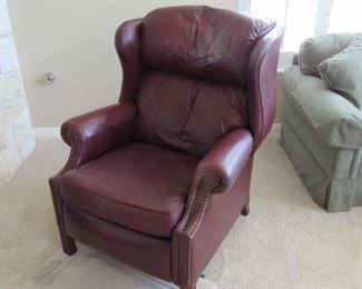 Leather recliner - works great - needs a good clean at headrest only