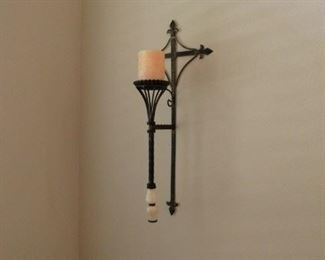 statement piece wall mount candle holder - about 30 inches tall plus