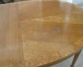 detail of dining table - has a little wear in spots