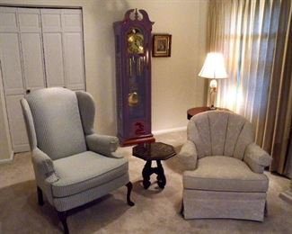 Arm Chairs & Grandfathers Clock