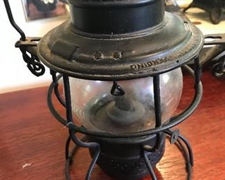 Antique railroad lantern