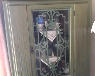 1930's painted China cabinet