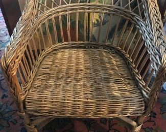 Antique wicker child's chair