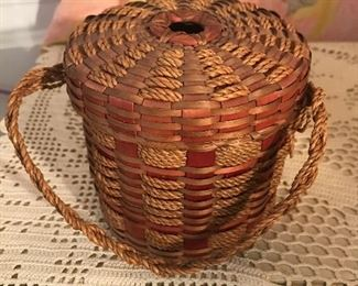 Antique string basket