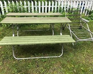 Vintage portable picnic table
