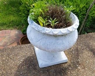 One of a pair of planters
