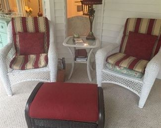 3 piece wicker set