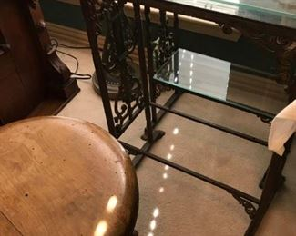 Cast Iron Glass Shelves (End Tables)