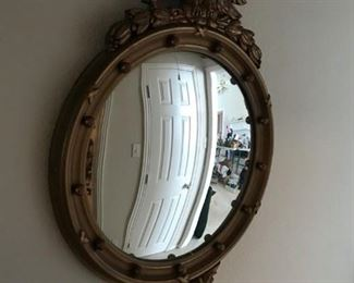 Gold Colored Concave Mirror with eagle