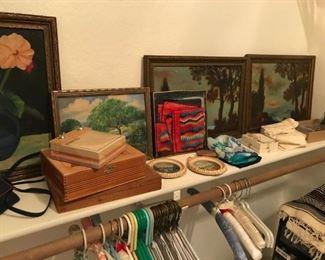 Italian Silk Scarves, cigar boxes