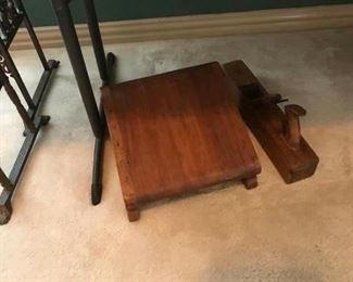 Foot rest, Vintage wood planer