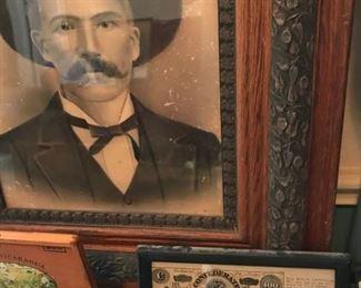 Framed confederate bill