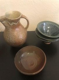 jugs and pottery