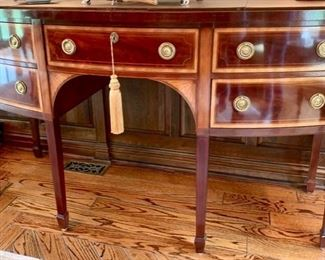 "112. Baker Inlaid Sideboard w/ Brass Carved Pulls (67"" x 26"" x 39"")"