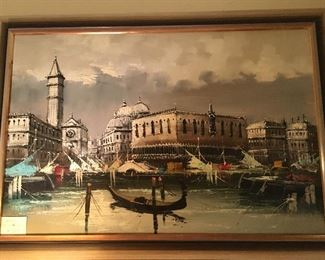 Original Venice tourist painting on canvas