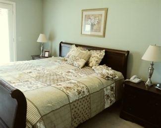 Broyhill King size bed,  mattress