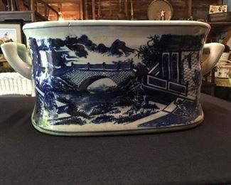 Asian Blue and White porcelain basin/dish