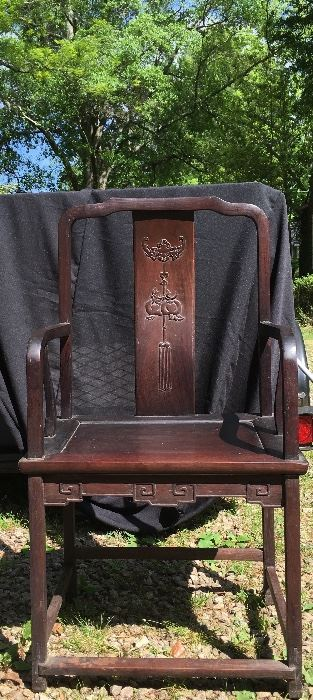 Antique Arm Chair from Hong Kong (pair)