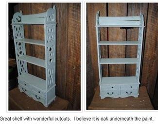 Ornate shelf - I believe it is Oak under the paint