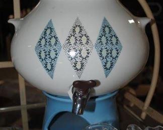 Iroquois Pottery beverage dispenser - Mid Century