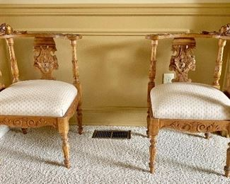 Antique Renaissance Corner Chairs