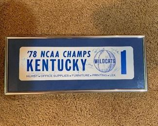Signed by the 1978 Kentucky Wildcats!