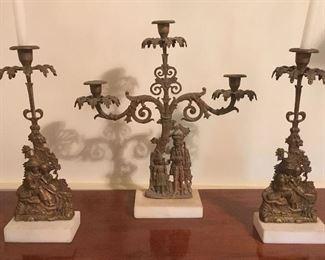 Antique Garniture Set