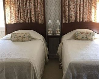 Pair of Antique Twin Beds.