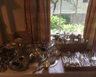 Large Collection of Sterling Silver ,a few pieces of Coin Silver.