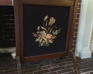 Embroidered Fire Place Screen.