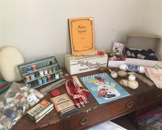 Lots of Antique & Vintage Sewing Items.