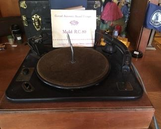 Antique Turntable. Garrard Automatic Record Changer. R.C. Model 80