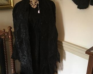 Circa 1870's Complete Mourning Outfit