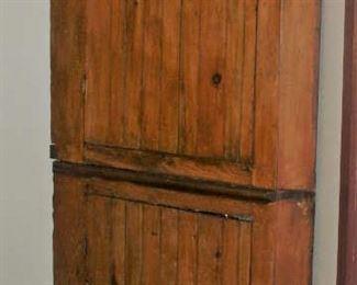 """Primitive Americana Large Pine Corner Cupboard (44""""W x 79""""H)"""