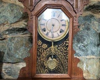 Seth Thomas walnut kitchen clock