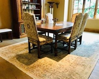 Beautiful trestle dining table with 6 chairs - Collections Reproductions