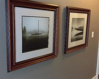 Pair of sepia toned photographic prints