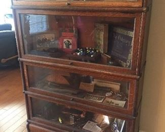 Barrister bookcase. NONE of the contents are for sale.