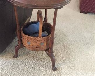 One of many antique occasional table