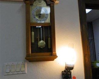 Grain-Belt wall lamp, Wall clock