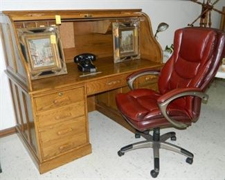 Roll top desk **chair has been sold**