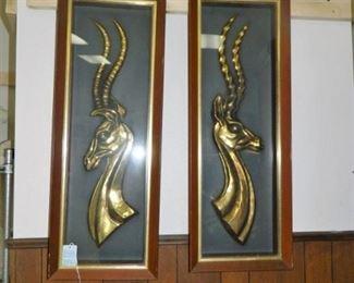 Mid-Century antelope wall art