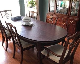 Gorgeous Dining table and China cabinet