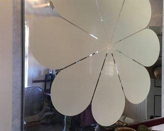Very unique fragile foil picture/mirror