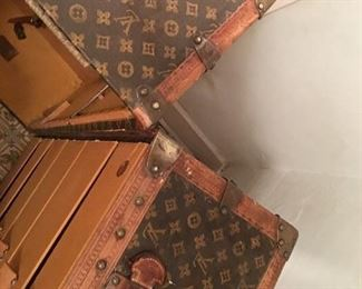 Rare find 1920's (especially in this good of condition for age) Louis Vuitton Monogram Steamer Travel Trunk.