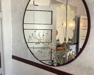 vintage mirror that's been and painted