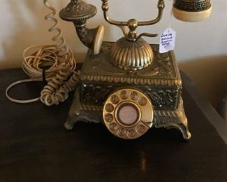 Rare hard to find Baroque Monarch Victorian look rotary phone