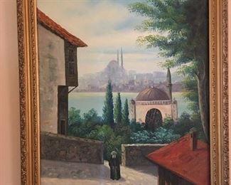 Painting by S. Maverick