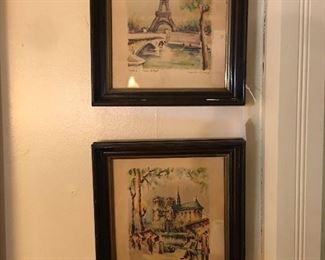 Vintage Paris prints